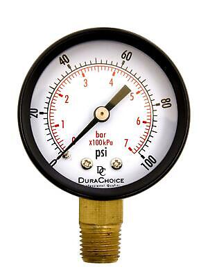 "Pressure GAUGE Compressor Industrial Hydraulic 2.5/"" Face 0-160 Lower Mnt      MI"