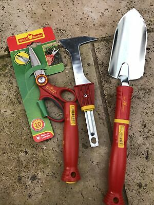 Wolf Garten Trowel/Scissors/two Handles/weeder  Plus Fiskars Edging Long Reach