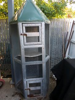 Hexagonal 6ft tall bird cage