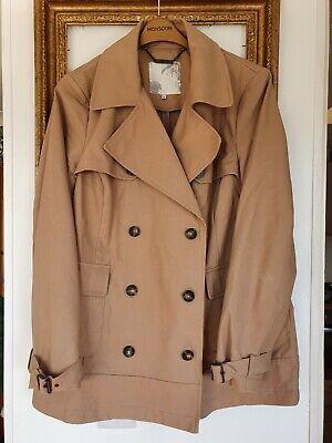 John Rocha Debenhams Beige Short Trench Jacket Coat Size 16