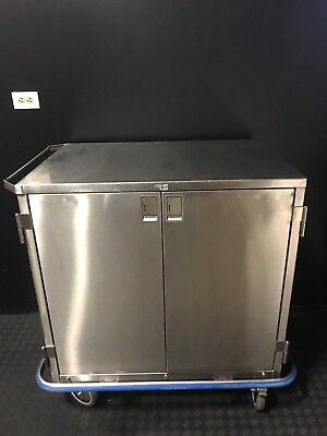 Blickman Stainless Steel Double Door Case Cart With Shelf