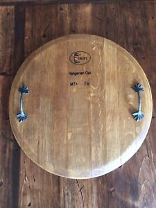 Wine Barrel cheese board/ serving tray