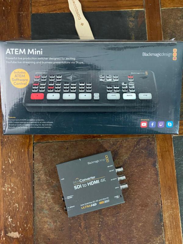 Blackmagic Atem Mini (New) & MiniConverter SDI to HDMI 4K (Used)