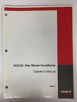 Case Ih Operatorss Manual -- Dcx161 Disc Mower-conditioner