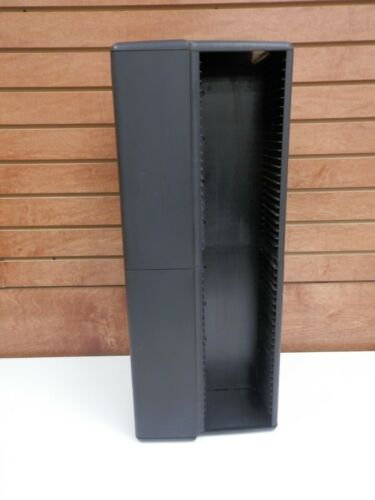 "Laserline Style 200 CD Black Storage Tower Holder 26"" Tall"