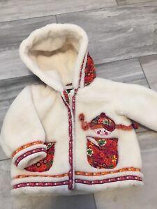 White winter coat - twins -3T