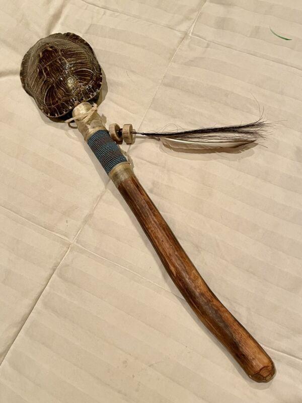 Ceremonial Dance Spirit Turtle Rattle Stick