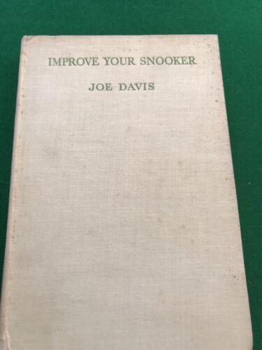 Joe Davis, Multiple World Champion, Improve Your Snooker, First Edition 1936