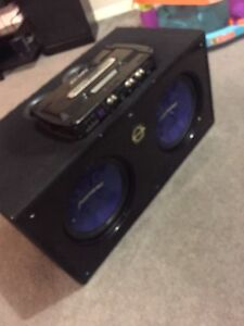 "^** PIONEER 12"" SUBS BASSWORX BOX 1600 WATT MTX AMP!"