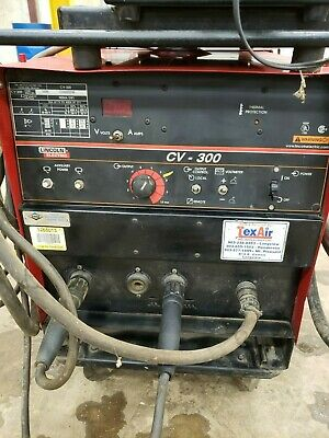 Lincoln Idealarc Cv-300 Mig Welder With Lf-72 Feeder And Cart