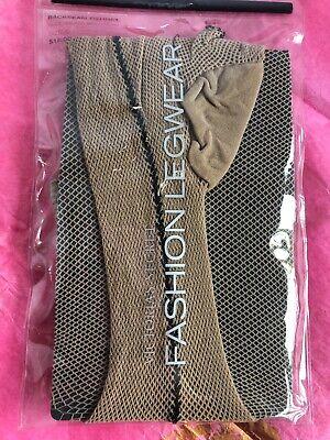 Victoria Secret FISHNET Stockings Backseam Hosiery Pantyhose Net Nude Black C Black Fishnet Hosiery