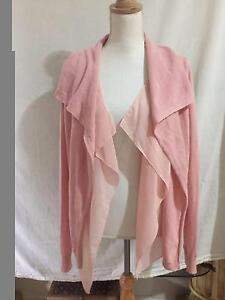 Simply Vera -  Vera Wang Pink Waterfall Style Cardigan Large VGC Capalaba Brisbane South East Preview
