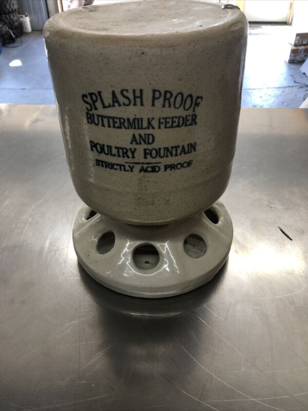 ANTIQUE Splash Proof BUTTER MILK FEEDER & POULTRY Fountain