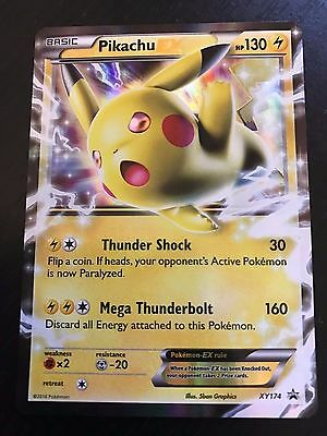 POKEMON TCG: PIKACHU EX XY174 - HOLO PROMO CARD - ULTRA RARE - NM