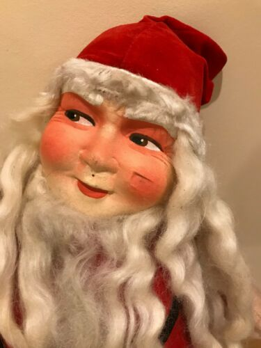Sweet Early Mrs? Santa Claus Cloth Face Doll