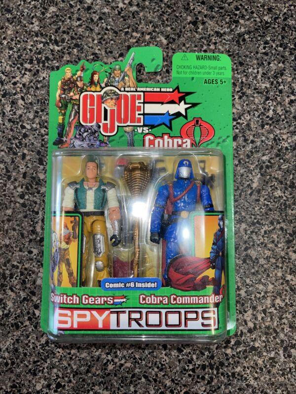 GI Joe figure set spytroops cobra commander and switch gears + Comic #6 inside