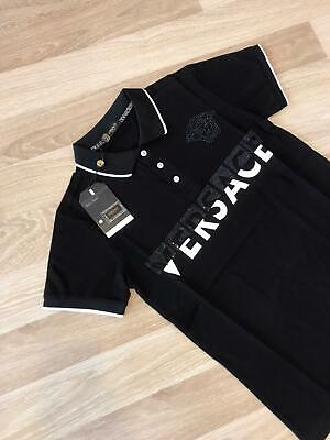 Nwt Mens Black and Silver Versace Medusa Classic Short sleeve T Shirt