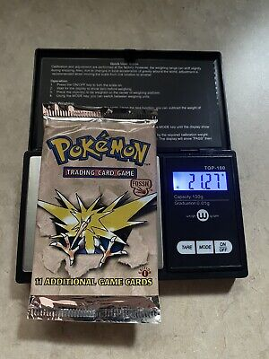 Pokemon 1st Edition Fossil Booster Pack Factory Sealed Zapdos Art-weighed heavy