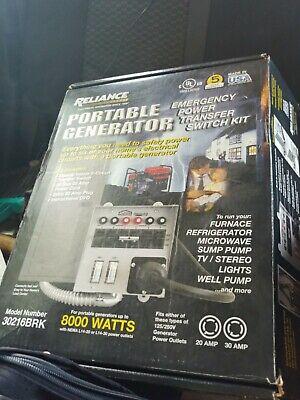Reliance Portable Generator 6 Circuit Transfer Switch Kit 30216brk