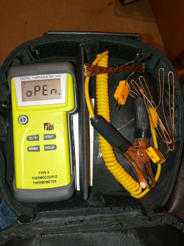 TPI 343 Dual-input, K-Type Thermocouple Thermometer