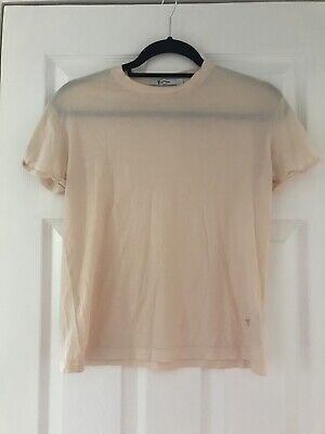 T By Alexander Wang Peach Classic Cotton T Shirt Size Xs Turn Up Sleeve