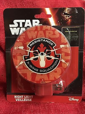 Star Wars Resistance X-wing Squadron Night Light BRAND NEW Plug In On/Off Switch
