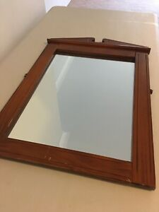 Beautiful timber framed mirror shabby chic white