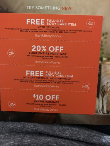 Bath And Body Works Coupon 20 Off - $20.00