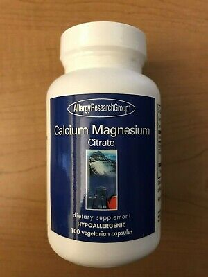 Allergy Research Group Calcium Magnesium Citrate Hypoallergenic Supplement 100ct Allergy Research Group Magnesium