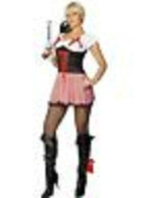 Damen Piratenkostüm Verkleidung Outfit Satz Smiffy's Fever Toller (Damen Piraten Outfits)