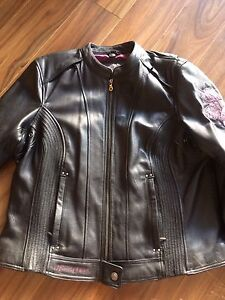 Ladies Harley Genuine Leather Biker Jacket