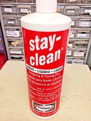 Stay Clean Liquid Flux Soldering Tinning Flux 32 Oz. Harris Part Sclf32