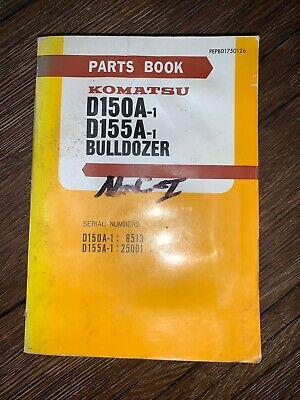 Komatsu D150a-1 D155a-1 Bulldozer Complete Parts Book
