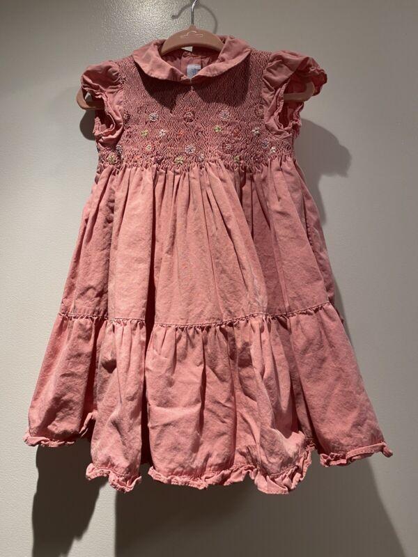 Adorable Jacadi Paris Smocked Ruffle Short Sleeve Dress 2T