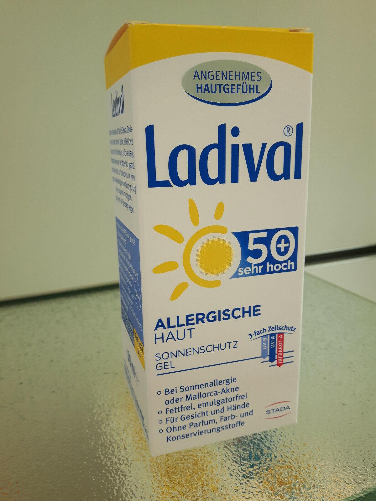 Ladival allergische Haut Sonnenschutz Gel fürs Gesicht LSF50 50ml PZN 13229661