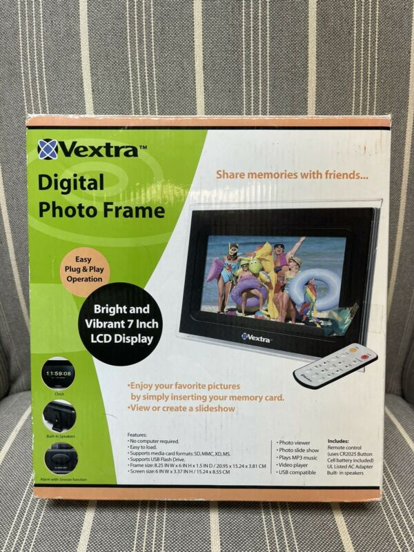 Vextra 7-Inch Digital Photo Frame NEW NIB FREE SHIPPING