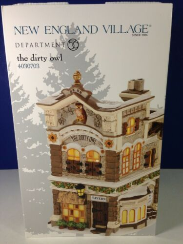 Dept 56 New England Village THE DIRTY OWL 4030703 Brand New! RARE!