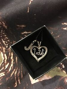 Love necklace with extra J pendant