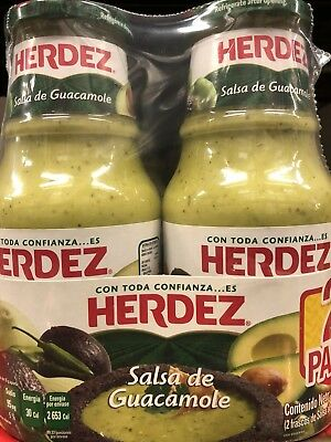 Authentic Herdez Guacamole Salsa 2 24 Oz  48 0Z
