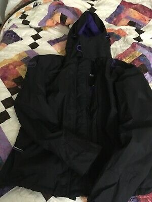 WOMANS SUPERDRY WINDCHEATER WINTER JACKET IN Black & Purple