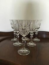 6 Crystal Wine Glasses Floreat Cambridge Area Preview