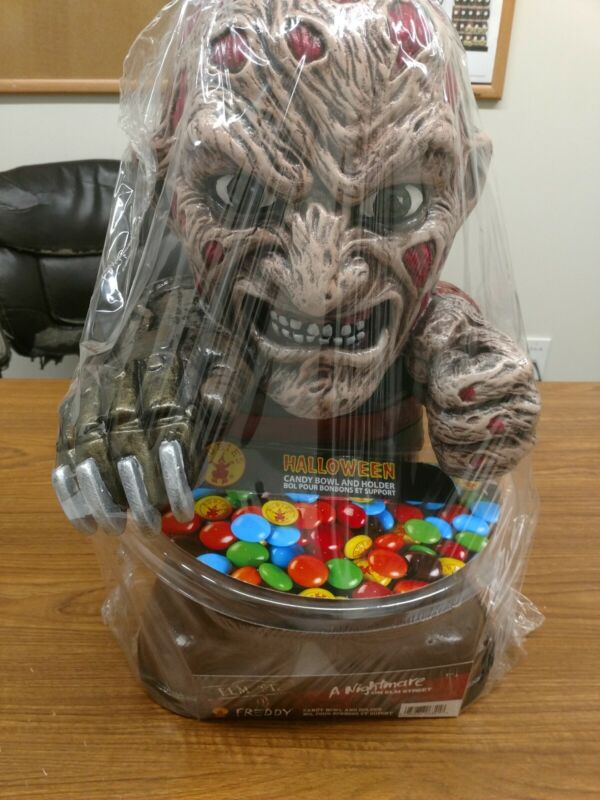 A Nightmare On Elm Street Freddy Candy Bowl And Holder