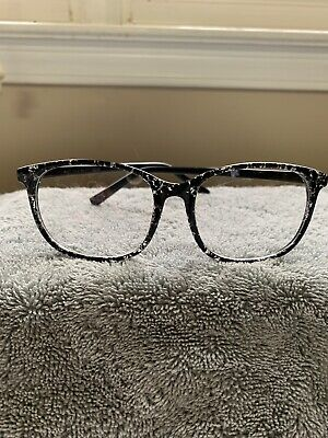 Womens Unisex Fashion Eye Glasses Clear Lens Or RX -  Black Marble - Super (Cute Womens Glasses)