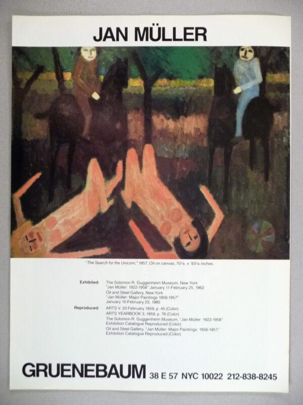 Jan Muller Art Gallery Exhibit PRINT AD - 1985
