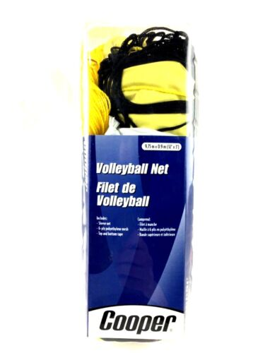 Cooper Volleyball Net 9.75 M x 0.9 M See Details For Included Items in Package