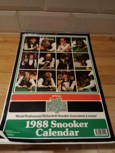 Retro Official WPBSA 1988 Snooker Calendar