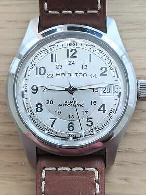 Hamilton Khaki Field Automatic 38mm Silver Dial Stainless Steel Watch H70455553