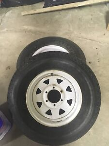 2 Camper trailer tires and  rims