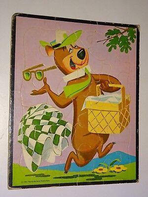vintage 1961 Hanna-Barbera Yogi Bear TRAY Puzzle stealing a picnic basket