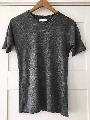 ISABEL MARANT ETOILE grey marl linen t-shirt XS